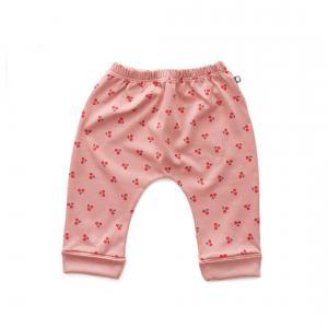 Oeuf Baby Clothes - L124375103 - Pantalon sarouel cerises en coton biologique rose 0/3M (364680)