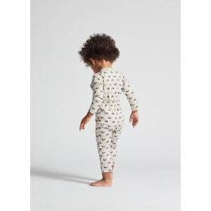 Oeuf Baby Clothes - L124322412 - Pantalon sarouel chats et arcs-en-ciel en coton biologique gris 6/12M (364682)