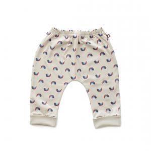 Oeuf Baby Clothes - L124322406 - Pantalon sarouel chats et arcs-en-ciel en coton biologique gris 3/6M (364684)