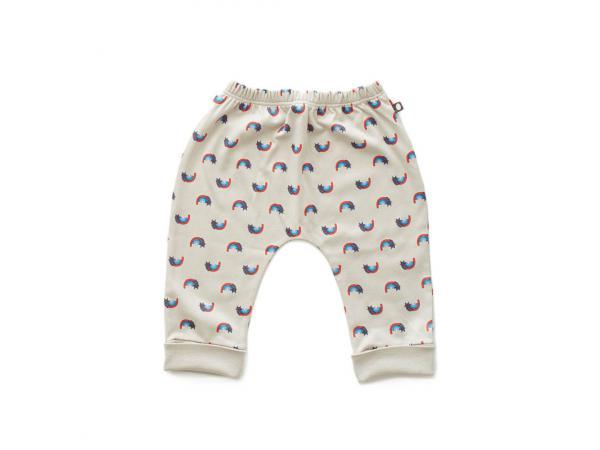 d6362c4e38b5 Pantalon sarouel chats et arcs-en-ciel en coton biologique gris 0 3m