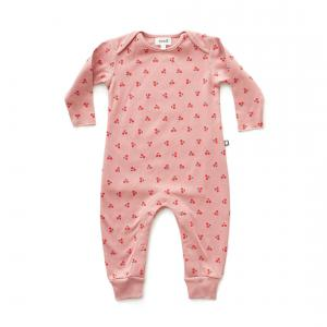 Oeuf Baby Clothes - L111375106 - Combinaison cerises en coton biologique rose 3/6M (364702)
