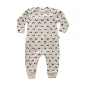 Oeuf Baby Clothes - L111322406 - Combinaison chats et arcs-en-ciel en coton biologique grise 3/6M (364708)