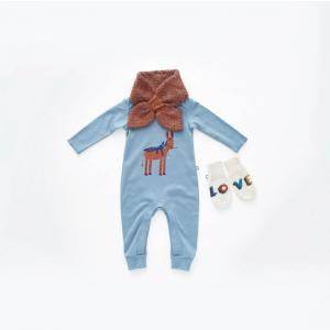 Oeuf Baby Clothes - L111022606 - Combinaison âne en coton biologique bleue 3/6M (364714)
