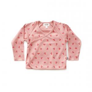 Oeuf Baby Clothes - L107375112 - Haut kimono cerises rose en coton biologique 6/12M (364718)