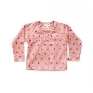 Oeuf Baby Clothes - L107375106 - Haut kimono cerises rose en coton biologique 3/6M (364720)