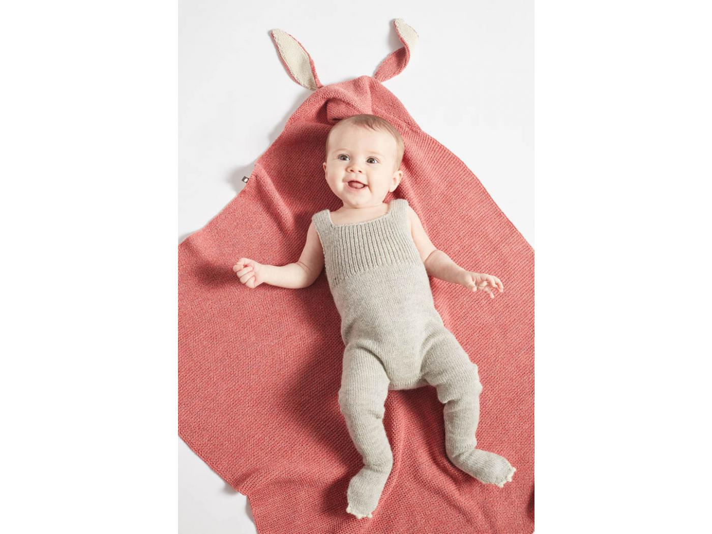 Oeuf Baby Clothes Couverture Cape Lapin Rose En Alpaga