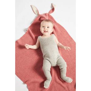 Oeuf Baby Clothes - K21216150099 - Couverture cape lapin rose en Alpaga (364730)