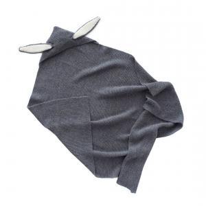 Oeuf Baby Clothes - K21217060099 - Couverture cape lapin gris foncé en Alpaga (364732)