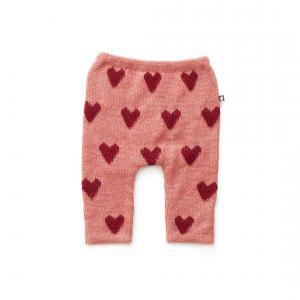 Oeuf Baby Clothes - K11917151218 - Pantalon en Alpaga rose avec cœurs rouges 18M (364752)