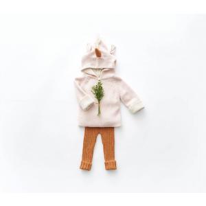Oeuf Baby Clothes - K10317141906 - Pull à Capuche rose licorne en Alpaga 6M (364780)