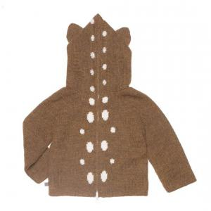 Oeuf Baby Clothes - K10315240012 - Pull à Capuche noisette Bambi en Alpaga 12M (364786)