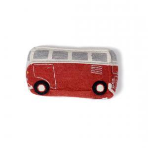 Oeuf Baby Clothes - G13017121999 - Coussin bus VW rouge en alpaga (364802)