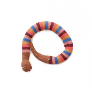 Oeuf Baby Clothes - G12217091799 - Coussin serpent rayé multicolore en alpaga (364808)