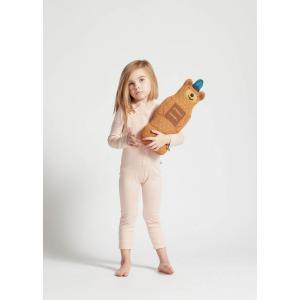 Oeuf Baby Clothes - G12117091899 - Coussin ours ocre et marron en alpaga (364818)