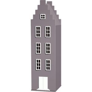 Kast Van Een Huis - EK67170-9 - Armoire enfant Amsterdam - toit Escalier marron glacé (364822)