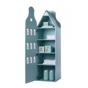 Kast Van Een Huis - EK67162-8 - Armoire enfant Amsterdam - toit Cloche bleu pastel (364840)