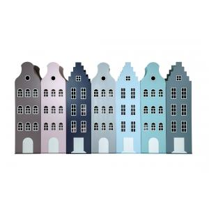 Kast Van Een Huis - EK67162-5 - Armoire enfant Amsterdam - toit Cloche bleu pastel (364846)