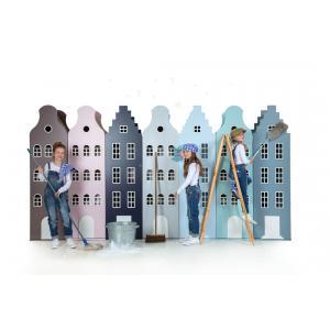 Kast Van Een Huis - EK67162-3 - Armoire enfant Amsterdam - toit Cloche argenté (364850)
