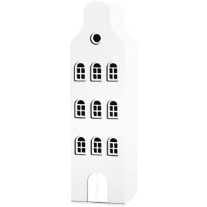 Kast Van Een Huis - EK67162-4 - Armoire enfant Amsterdam - toit Cloche blanc (364852)