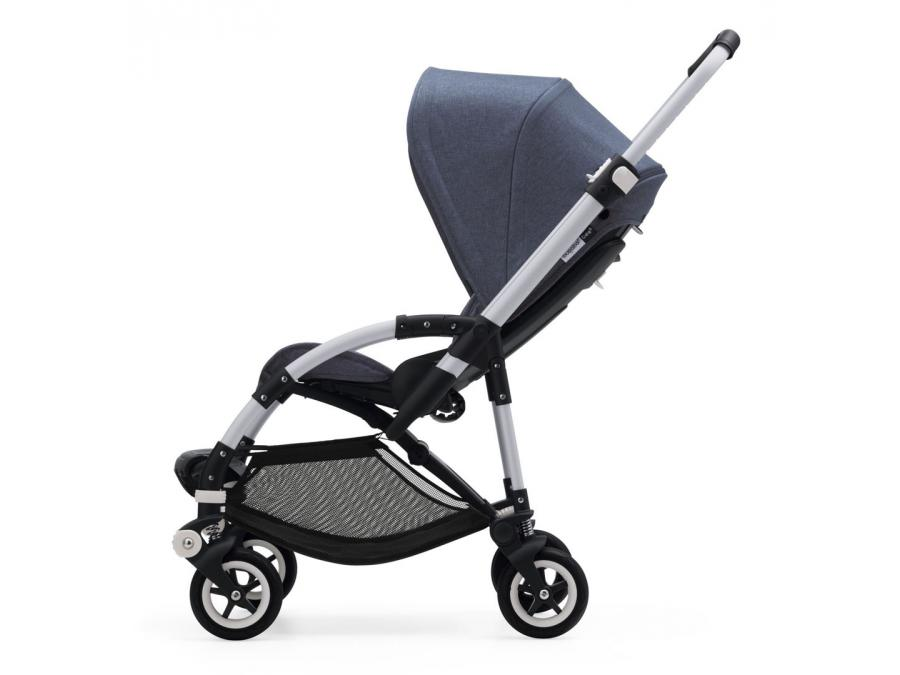 nouvelle poussette bugaboo bee 5 avec capote bleu chin chassis alu. Black Bedroom Furniture Sets. Home Design Ideas