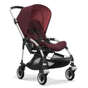 Bugaboo - BU112 - Nouvelle poussette bugaboo bee 5 avec capote rouge chiné chassis alu (366118)