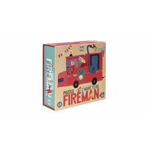 Londji - PZ353U - Puzzle - 36 pièces - Fireman (366414)