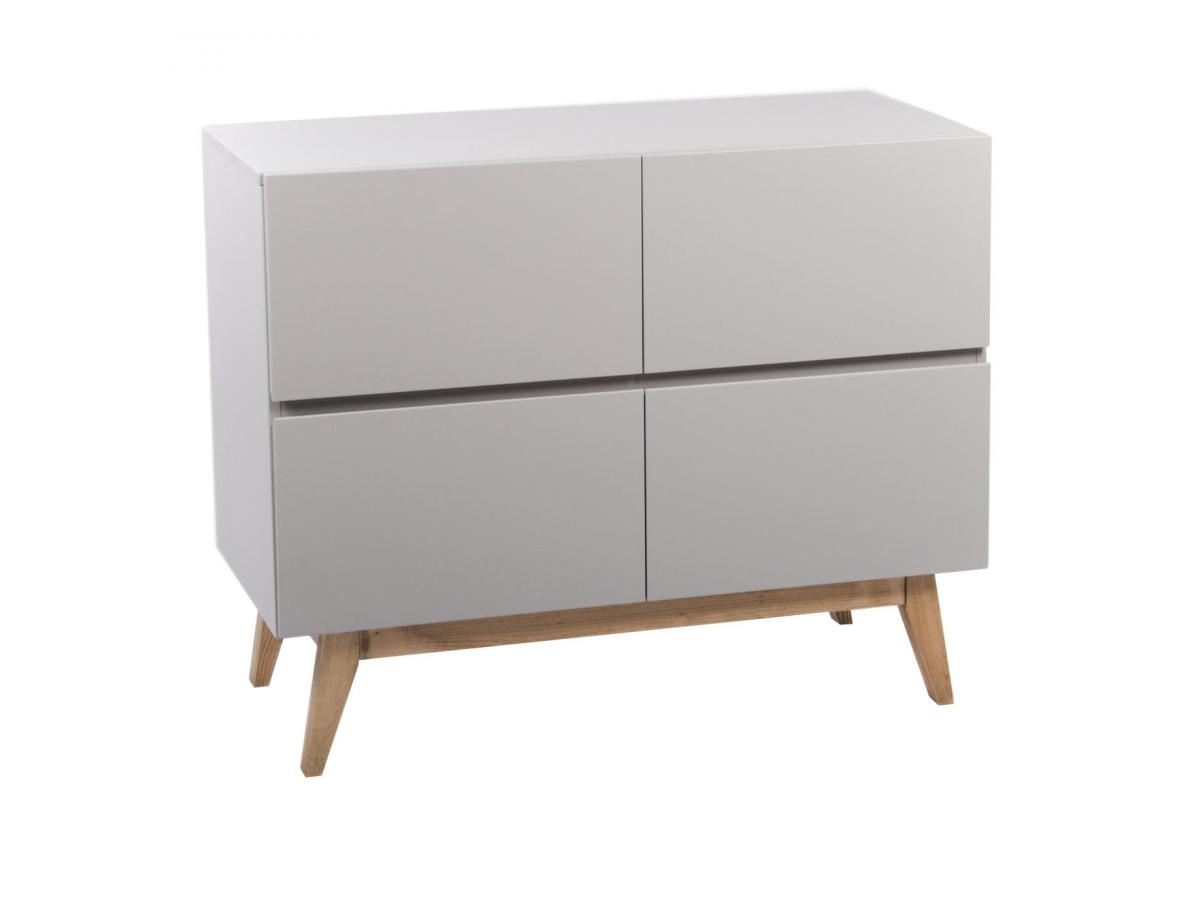 Quax commode 4 tiroirs trendy gris for Chambre quax trendy