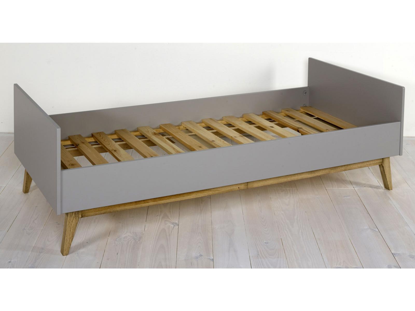 Quax lit junior trendy gris 90 200 cm for Chambre quax trendy