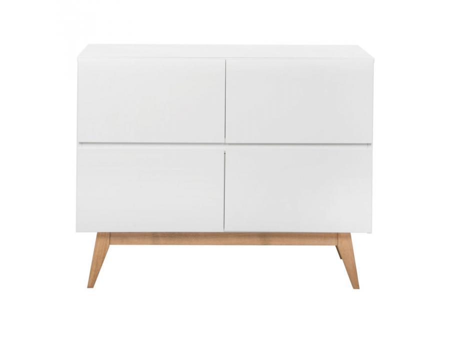 Quax commode 4 tiroirs trendy blanc for Chambre quax trendy