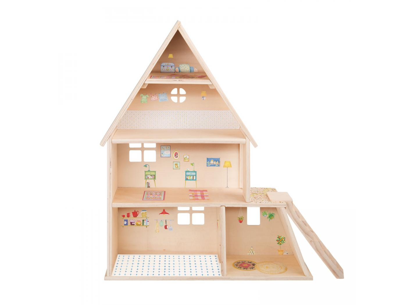 Moulin roty maison de poup e avec mobilier for Mobilier maison