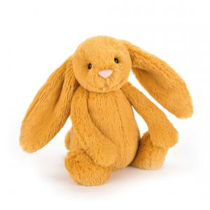 Jellycat - BAS3SF - Peluche lapin Bashful Saffron jaune - L = 9 cm x l = 12 cm x H =31 cm (367708)