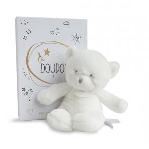 Doudou et compagnie - DC3271 - Le doudou - pantin ours blanc 26 cm - boîte led (367956)