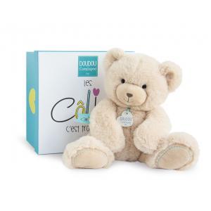 Doudou et compagnie - DC3244 - Unicef - ours beige mm 30cm (boîte cadeau) (367978)
