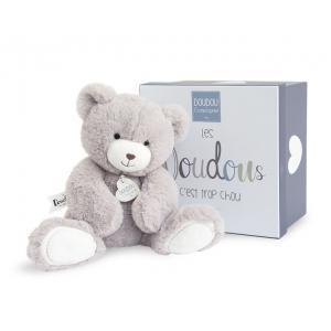 Doudou et compagnie - DC3245 - Unicef - ours taupe moyen modèle - 30 cm - boîte cadeau (367980)