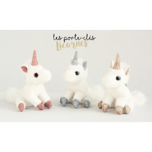 Histoire d'ours - HO2764 - Collection Je Rêve ! -  PORTE-CLES LICORNE ROSE (367986)