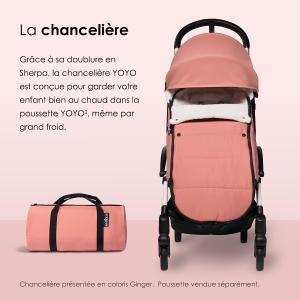 Babyzen - BZ10209-10 - Nouvelle chancelière Bleu marine doublée et son sac de rangement pour poussette YOYO (368010)