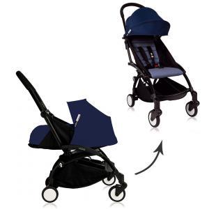 Babyzen - Bu082 - Poussette Yoyo plus Bleu Air France cadre noir habillages 0+ et 6+ (368014)