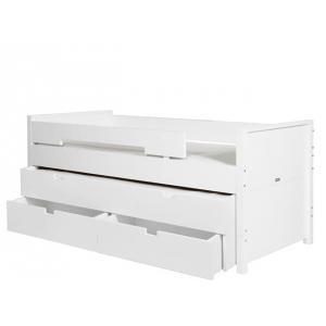 Bopita - 41414611 - 1 tiroir Lit et 2 tiroirs de rangement blanc (368498)