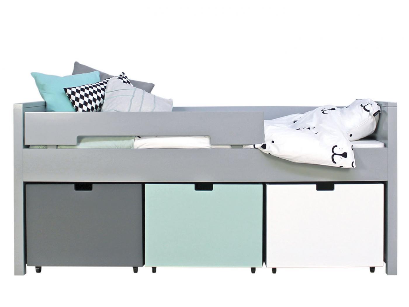 bopita lit compact 90x200 timo gris pure excl 3 tiroirs 5300xx. Black Bedroom Furniture Sets. Home Design Ideas