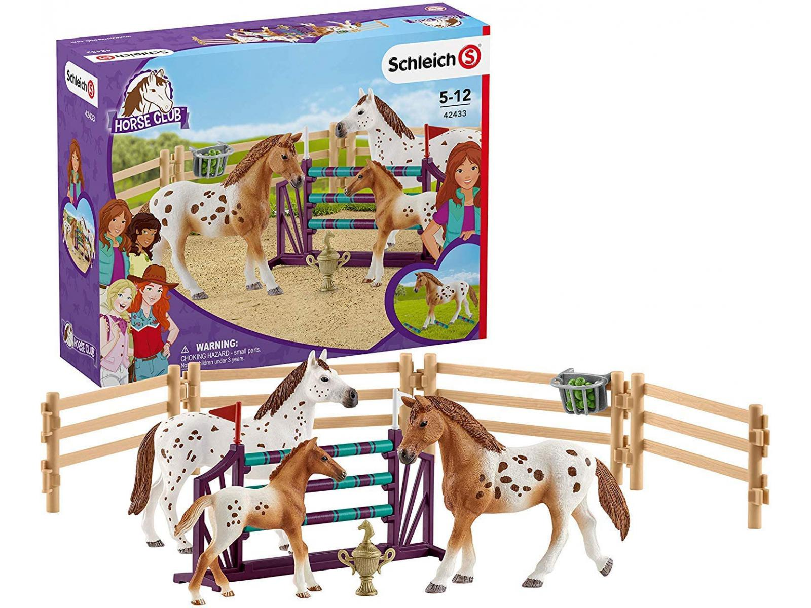 schleich l entra nement au concours d 39 horse club lisa 24 5 cm x 5 2 cm x 19 cm. Black Bedroom Furniture Sets. Home Design Ideas