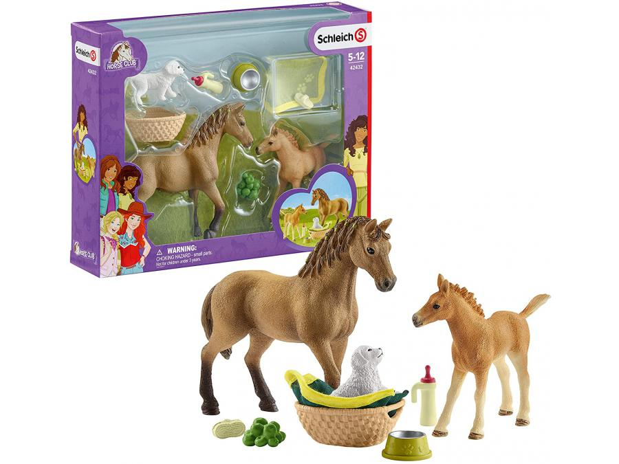 schleich les soins pour b b animaux d 39 horse club sarah 24 5 cm x 5 2 cm x 19 cm. Black Bedroom Furniture Sets. Home Design Ideas