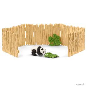 Schleich - 42429 - Enclos à pandas - 19 cm x 6,8 cm x 11,5 cm (369492)