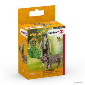 Schleich - 42428 - Kit de base + ranger et rhinocéros (369496)