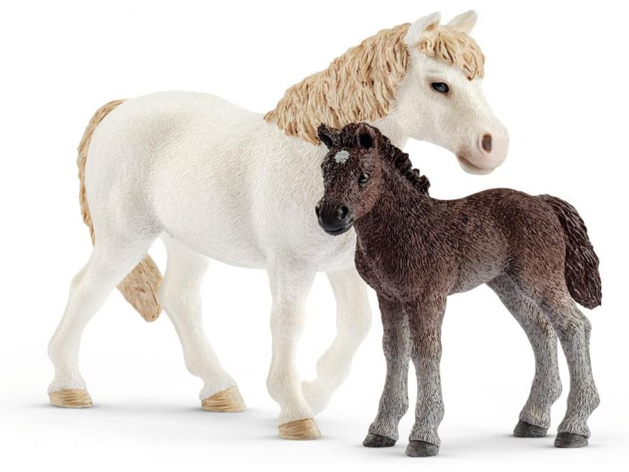 schleich ponette et poulain 8 9 cm x 5 6 cm x 13 7 cm. Black Bedroom Furniture Sets. Home Design Ideas