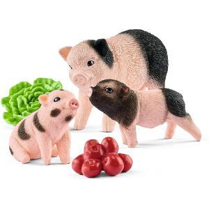 Schleich - 42422 - Figurine Cochon nain femelle et cochonnets 8,9 cm x 5,6 cm x 13,7 cm (369500)