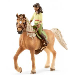 Schleich - 42414 - Horse Club Sarah & Mystery - 15 cm x 8,2 cm x 18 cm (369512)