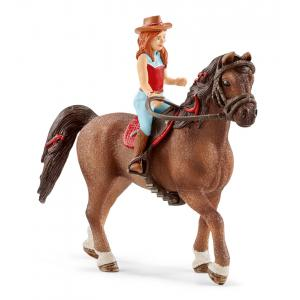 Schleich - 42411 - Figurine Horse Club Hannah & Cayenne 2.0 (369518)