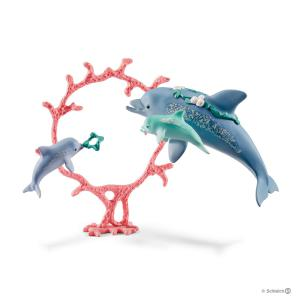 Schleich - 41463 - Figurine Schleich 41463 : Maman dauphin et ses petits bébés (369520)