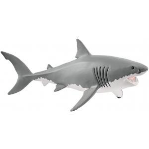 Schleich - 14809 - Figurine Requin blanc - Dimension : 17,7 cm x 8 cm x 7,8 cm (369584)