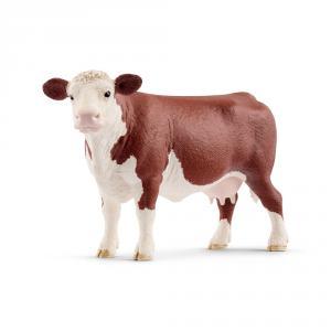 Schleich - 13867 - Vache Hereford - 4,5 cm x 14,3 cm x 8,5 cm (369630)